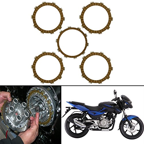 Autofy Aluminium Clutch Plates for Bajaj Pulsar-180/ UG-3 (Set of 5)