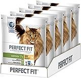 Perfect Fit Katzen-/Trockenfutter Senior 7+ für ältere Katzen Senior Reich an Huhn, 5 Beutel (5 x 750 g)
