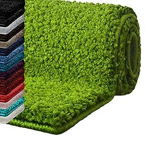 casa pura Badematte Hochflor Sky Soft | Weicher, Flauschiger Badezimmerteppich in Shaggy-Optik | Badvorleger rutschfest waschbar | schadstoffgeprüft | 16 Farben in 6 Größen (60x50 cm, Limone)