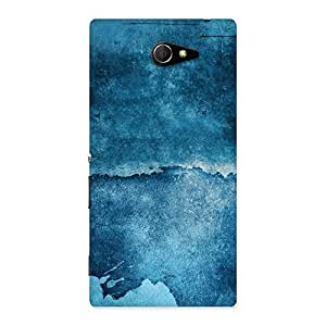 Blue Paint Print Back Case Cover for Sony Xperia M2