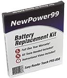 Kit di Ricambio di Batteria per Sony PRS-650 eReader con Video di Installazione, Strumenti, e Batteria a lunga durata
