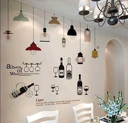 Kronleuchter Wandbehänge literarische Billard Schlafzimmer Wandaufkleber Aufkleber Dekorationen Liebe LIEBE Fotowand Stil2