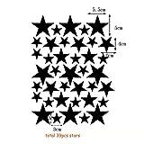 DIY Stars Wall Sticker Decal for Children Nursery Room Decor - Black 39pcs Stars