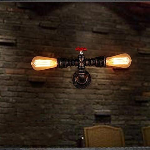 HOME Retro vento industriale Ristorante Bar Ferro illuminazione American Style semplici tubi Bar Ristorante Acqua lampada da parete
