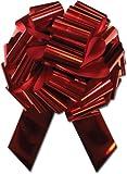 30,5cm de diamètre avec passants de 28géant Cadeau nœuds , Grande nœuds à tirer pour cadeaux de Noël, couronnes, guirlandes, grande Voiture, nœuds, grand cadeau nœuds 12inch diameter Rouge