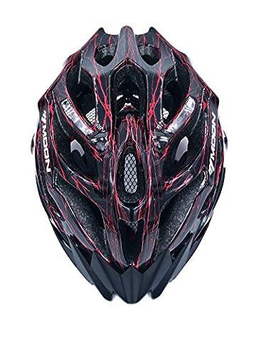 broloyalty Moon mv27Road/Mountain Bike Helm Erwachsene Skate Fahrrad Helm, Größe 58–61cm für Herren und Damen, schwarz / rot