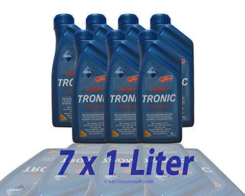 3x 1 L + 4 L = 7 LITER ARAL HIGHTRONIC HIGH TRONIC 5W-40 MOTOR-ÖL MOTOREN-ÖL