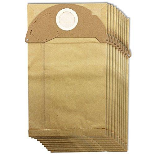 Spares2go Staubsaugerbeutel mit Filter für Kärcher MV2, in verschiedenen Mengen erhältlich 10 Bags
