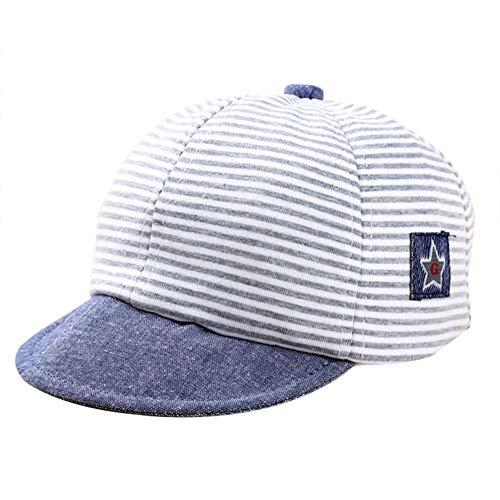 YIDAINLINE Neugeborenen Jungen Sommer Hüte Baby Stickerei Baumwolle Gestreiften Sonnenhüte Unisex Kinder Baseball-Kappen Caps (Baumwolle Hut Gestreiften Eimer)
