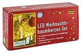 Idena LED Weihnachtsbaumkerzen Set mit 10 kabellosen Kerzen inklusive Infrarot Fernbedienung, warmweißes Licht 31102