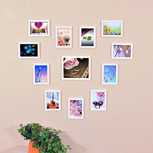 Mainstream-wohnzimmer (WCUI Massivholz Foto Wand Kreative Kombination Rahmen Wand Kreative Liebe Herzförmige Schlafzimmer Mainstream Stil Wohnzimmer Home Mode Einfache Moderne Select ( Farbe : A ))