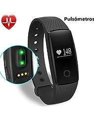 Willful Pulsómetro FitnessTracker Pulsera Inteligente con Monitor de Calorías,Monitor de Sueño,Podómetro,Seguimiento de Pasos ,Monitor del Ritmo Cardiaco Deporte Pulsera Actividad Bluetooth 4.0,para iOS7.0 Android 4.3 Smartphone Activity Tracker