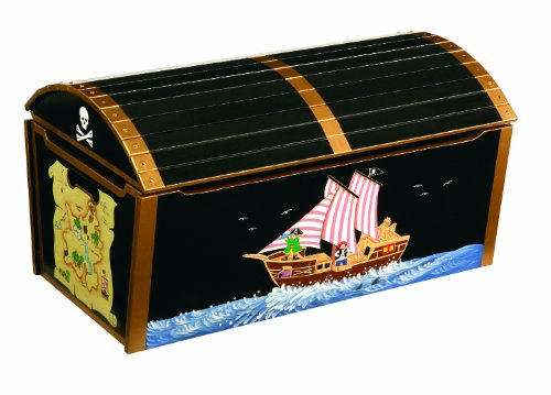 Guidecraft Pirate Treasure Chest Toy Box