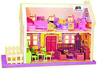 GRAPPLE DEALS 34 Pieces Beautiful Doll House Set For Girls.(Multicolor)