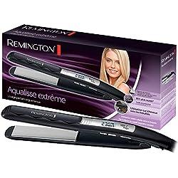 Remington Fer à Lisser Lisseur Plaques Flottantes Aqualisse Céramique Avancée, Sur Cheveux Mouillés et Secs - Accessoire Inclus S7202