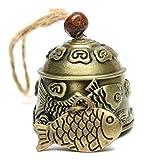 Yichener Modische Windspiel Drache/Fisch Feng Shui Glocke Segen Glücksbringer zum Aufhängen, Dekoration, Basteln