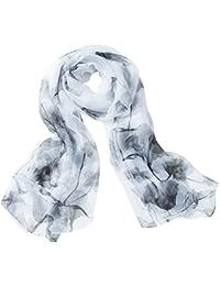 Aivtalk - Écharpe Satin Mode Léger Classique Longue Spécial Lavis - Foulard  Femme Soie Transparent Imprimé 52bae0d28a9