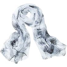 Aivtalk - Écharpe Satin Mode Léger Classique Longue Spécial Lavis - Foulard  Femme Soie Transparent Imprimé fd06efcf880