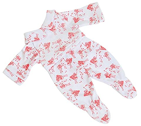 Babygrow in Fairy design fabric by Frilly Lily for Baby Dolls 12-14 inch (30-36 cm)DOLL NOT INCLUDED To fit dolls such as My Little Baby Born ,and My First Baby