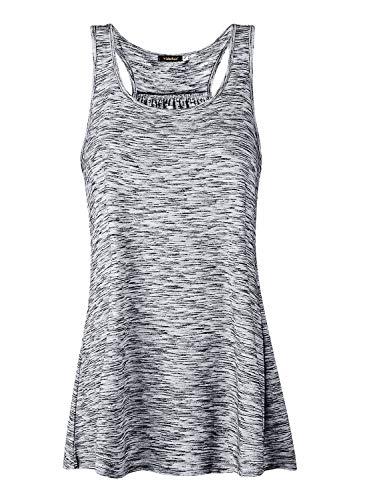 Damen Tank Top Sommer Sports Shirts Oberteile Frauen Baumwolle Lose Ärmellos for Yoga Jogging Laufen Workout-ga-m -