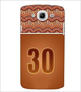 PrintDhaba Numerology Number 30 D-3666 Back Case Cover for SAMSUNG GALAXY MEGA 5.8 (Multi-Coloured)