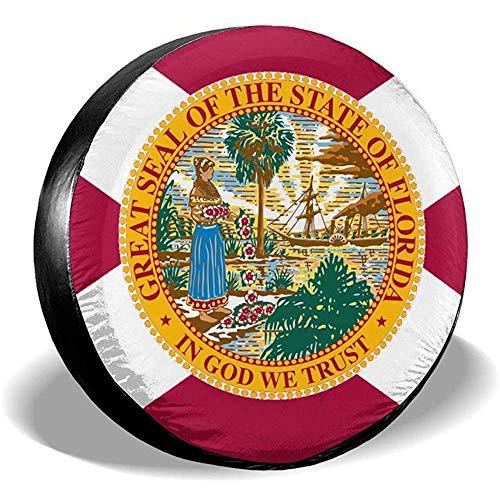 LAURE Tire Cover Accessori di Ricambio per Auto d'Epoca, copricerchi Bandiera Florida State F