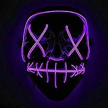 Immoch Halloween LED Máscaras Adultos LED Mask para la Fiesta de Disfraces, la Navidad,
