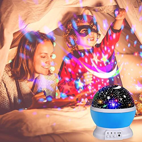 Romantisches LED Sternen Lampe Projektionslampe für Kinder Zimmer, Schlafzimmer, Hochzeit, Geburtstag - Sternenprojektor, Sternenhimmel, Sternen, Romantisches, Projektor, Projektionslampe, Nachtlicht, Lampe, einschlafhilfe, baby einschlafhilfe auto