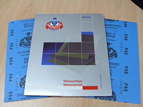 Starcke Matador Wet and dry sandpaper. C Weight 1 pack of 10 sheets P120