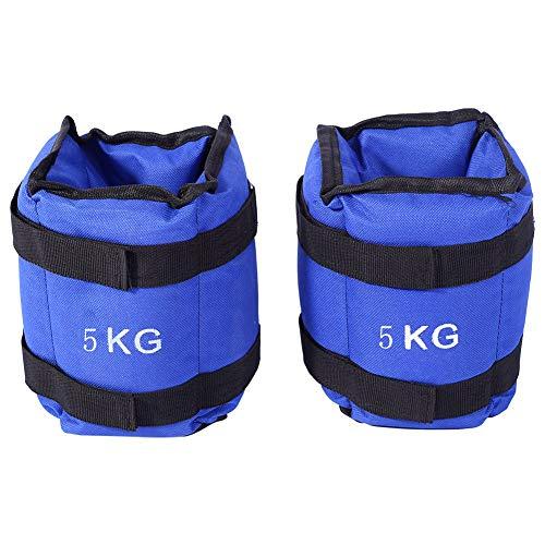 Knöchelriemen Fitness,Gewichte für Beine und Arme Fuß Gewichtsmanschetten Blau Verstellbar Laufgewichte Set für Fuß- und Handgelenke für Fitness Bewegung Laufen Joggen Gymnastik(Insgesamt 5 KG)