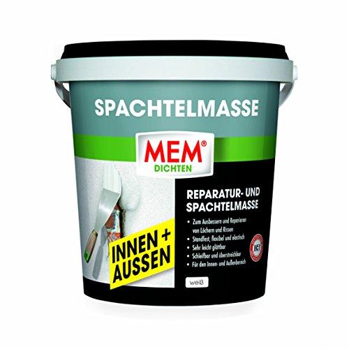 MEM Reparatur- und Spachtelmasse INNEN+AUßEN Weiß 1 Kg