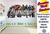 Marvel Avengers Wall Sticker Kids Bedroom Wall Decal Extra Large Wall Sticker.
