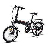 Profun Vélo de Montagne électrique Pliant Roues de 20/26 Pouces Batterie Lithium-ION Grande Capacité (250 36V 8Ah) Suspension Complète Premium et équipement Shimano