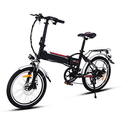 Elektrofahrräder 36V 8AH Lithium Batterie Faltrad MTB Mountainbike E-Bike 20 Zoll Shimano 21 Speed Fahrrad Intelligence Elektrofahrrad (20 Zoll_7)