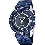 Calypso  0 - Reloj de cuarzo para hombre, con correa de silicona, color azul