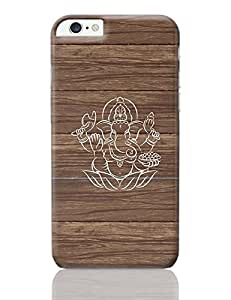 PosterGuy iPhone 6 Plus / iPhone 6S Plus Case Cover - Hand Drawn Ganesha with Brownish Wood Background | Designed by: Codeburnerz Technologies