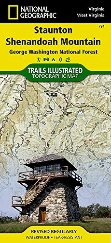 Staunton / Shenandoah Valley: National Geographic Trails Illustrated USA Südosten (National Geographic Trails Illustrated Map, Band 791) -