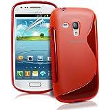 JAMMYLIZARD | S-Line Silikon Case Hülle für Samsung Galaxy S3 Mini, ROT