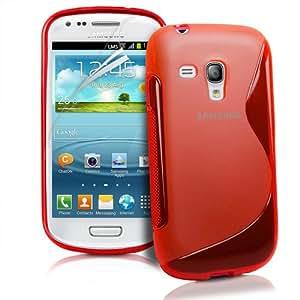 JAMMYLIZARD   Coque Samsung Galaxy S3 Mini, coque GEL silicone souple invisible, Rouge