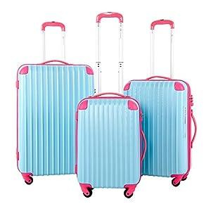 Travelhouse Hard Shell Travel Luggage Sets of 3 TSA Locks Lightweight suitcase On Wheels Holdall (20/24/28 inch)