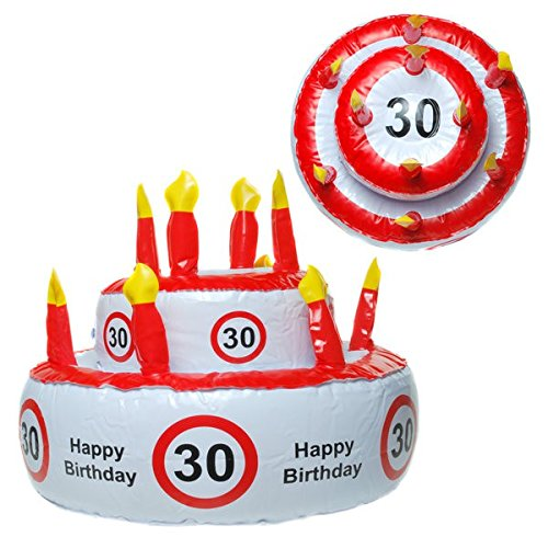 Tarta cumpleaños hinchable 30años fiestas cumpleaños
