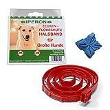 Lyra Pet Iperon Bio Flohhalsband Hund 75 cm Ungezieferhalsband + Microfasertuch