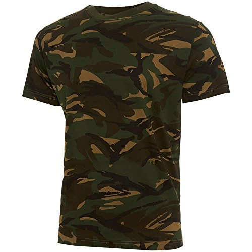 Army And Workwear Jungen Hemd WOODLAND British DPM CAMOUFLAGE (T-shirt Kids Woodland Camouflage)