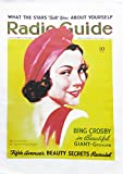 Radio Guide - Retro Style Magazine Cover Large Cotton Tea Towel by Half a Donkey