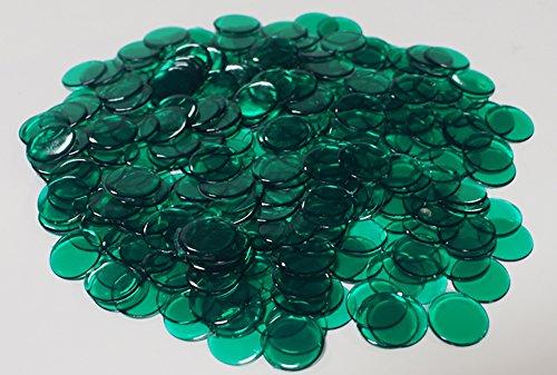1200Kunststoff Chips mit gratis Aufbewahrungstasche, TRANSPARENT DARK GREEN - Dark Green-chip