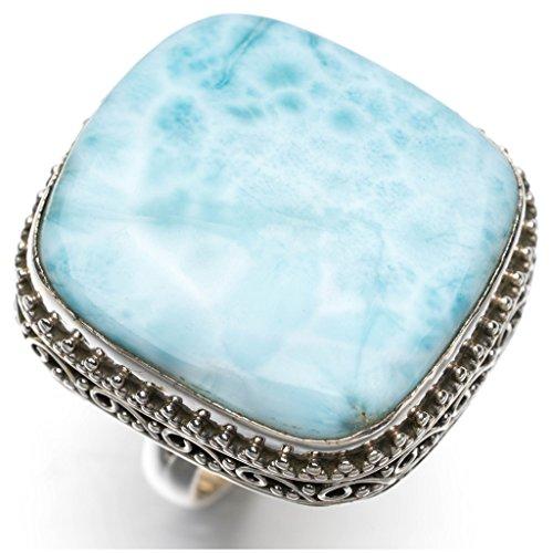 stargems-tm-natural-caraibi-design-unico-anello-in-argento-sterling-925-larimar-taglia-us-7