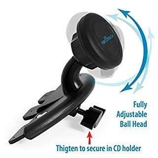 Abco Tech Mobile Phone Car Mount - Cd Slot Car Mount with Magnetic One Step Mounting Technology - Best Cell Phone Holder for Your Car - Compatible with All Phones …