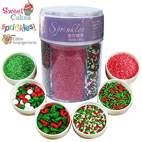 Decorazioni commestibili per torte, cupcake, biscotti, per natale, pasqua, san valentino 190g christmas(6 color)
