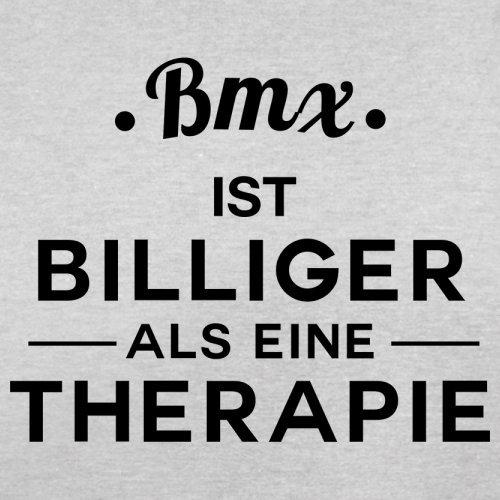 Bmx ist billiger als eine Therapie - Herren T-Shirt - 13 Farben Hellgrau