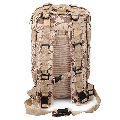 Imagen de 30l  de marcha deportivo exterior militar impermeable molle con muchos bolsillos para acampada camping senderismo deporte backpack de asalto patrulla para hombre mujer digital del desierto alternativa